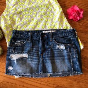 🌺 Abercrombie & Fitch; Mini Jean Skirt Sz. 2/W29!